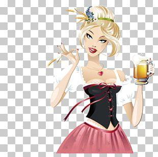 Beer Oktoberfest German Cuisine Girl PNG
