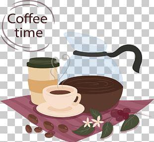 Coffee Cup Tea Iced Coffee Cafe PNG