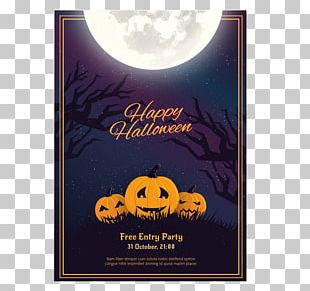 Halloween Flyer Party Poster PNG
