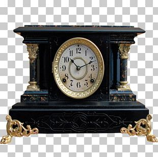 Table Alarm Clock Mantel Clock Antique PNG