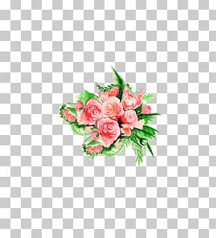 Flower Bouquet Floral Design Rose Watercolor Painting PNG