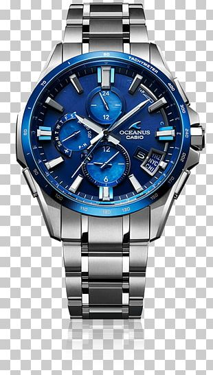 Watch Casio Oceanus Baume Et Mercier Blue Clock PNG