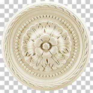 Ceiling Rosette Polyurethane Rose Window Stucco PNG