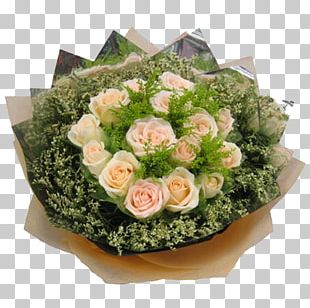 Pink Rose Green Flower Bouquet PNG