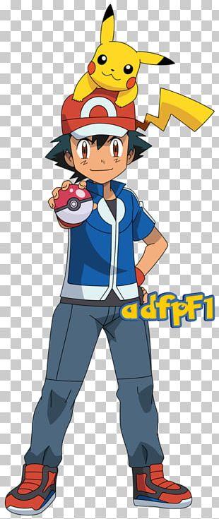 Pokémon X And Y Ash Ketchum Pikachu Misty Serena PNG