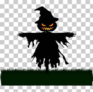 Scarecrow Silhouette Halloween PNG
