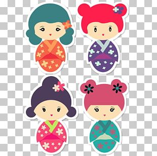 Printed T-shirt Kokeshi Clothing Accessories Japanese People PNG