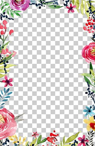 Wedding Invitation Flower Borders And Frames Template PNG