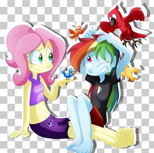 Fluttershy Rainbow Dash Pinkie Pie Twilight Sparkle Applejack PNG