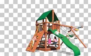 Swing Playground Slide Jungle Gym Wood PNG