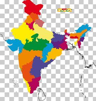 Gurugram States And Territories Of India Map PNG