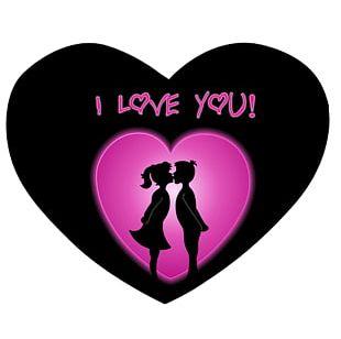 I Love You Desktop Heart PNG