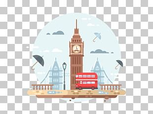 City Of London Flat Design Illustration PNG