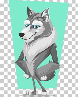Gray Wolf Cartoon PNG