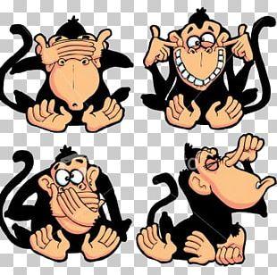 Three Wise Monkeys The Evil Monkey PNG