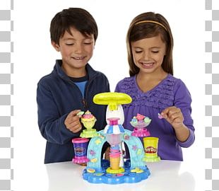 Play-Doh Ice Cream Cones Sundae Food Scoops PNG