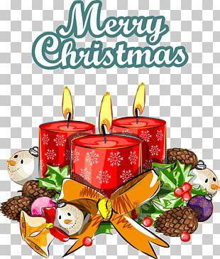 Santa Claus Christmas Ornament Candle PNG