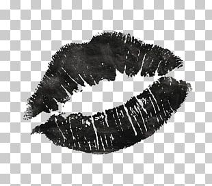 Lip Kiss Black And White PNG