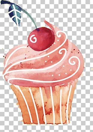 Cupcake Birthday Cake Rice Cake Red Velvet Cake Dessert PNG