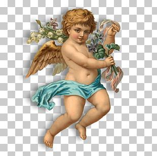 Vintage Angel Blue PNG