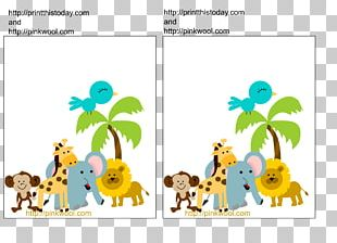 Wedding Invitation Baby Shower Safari Jungle Infant PNG