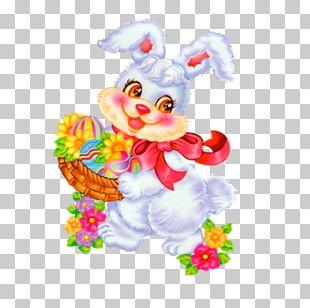 Easter Bunny Christmas Card Easter Egg Wish PNG