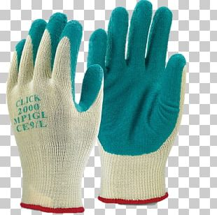 Latex Dipped Work Gloves PNG