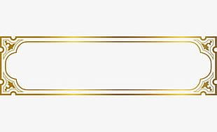 Luxury Golden Frame PNG