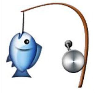 Emoji Fishing Rods Sticker PNG