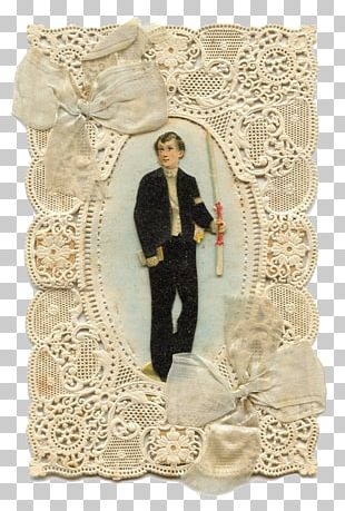 First Communion Holy Card Eucharist Lace 19th Century PNG
