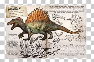 ARK: Survival Evolved Spinosaurus Baryonyx Tyrannosaurus Therizinosaurus PNG