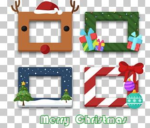 Christmas Tree Party Frame Photo Booth PNG