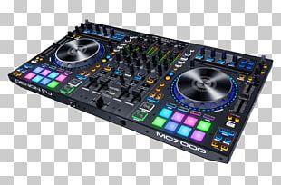 DJ Controller Disc Jockey Audio Mixers Denon DJ MC7000 Microphone PNG