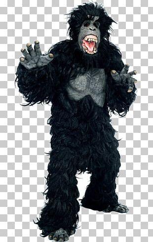 Gorilla Suit Costume Orangutan Mask PNG