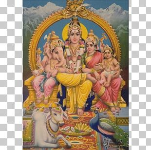 Mahadeva Parvati Ganesha Kartikeya Hinduism PNG