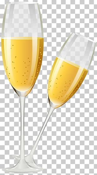 White Wine Champagne Glass Stemware Wine Glass PNG