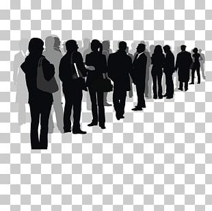 Silhouette Crowd Drawing Illustration PNG