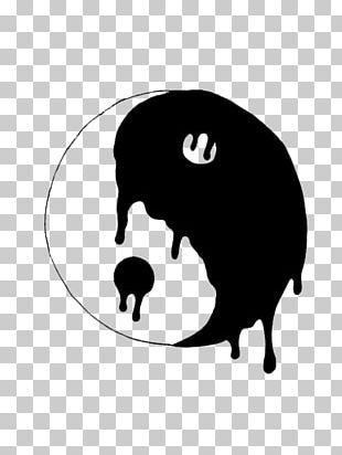 Yin And Yang Symbol Black And White Drawing PNG
