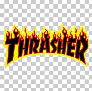 Thrasher Sticker Skateboarding Decal PNG
