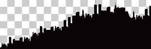 Silhouette Skyline City PNG