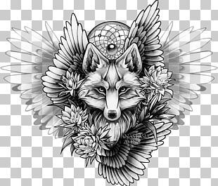 Sleeve Tattoo Drawing Fox Sketch PNG