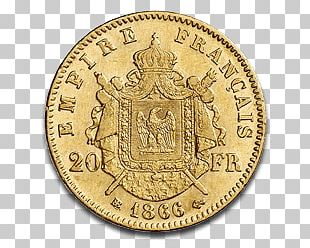 Napoleon III Gold Coin PNG
