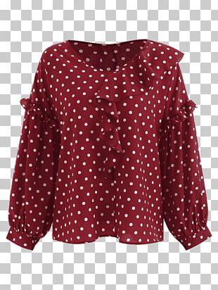 Blouse Polka Dot Top Clothing Skirt PNG