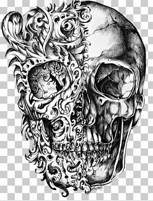 Calavera Skull Tattoo Drawing PNG