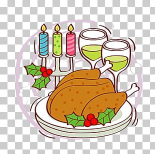 Dinner Cartoon Fruit Illustration PNG