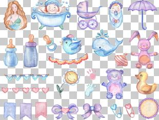 Watercolor Painting Baby Shower Drawing Infant PNG