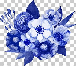 Flower Bouquet Floral Design Blue Tulip PNG