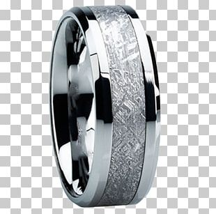Wedding Ring Tungsten Carbide Inlay PNG