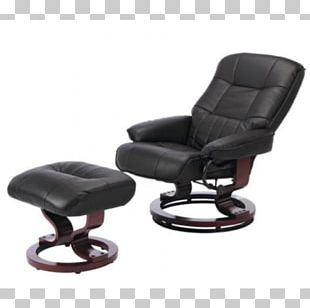 Eames Lounge Chair Recliner Footstool Couch PNG