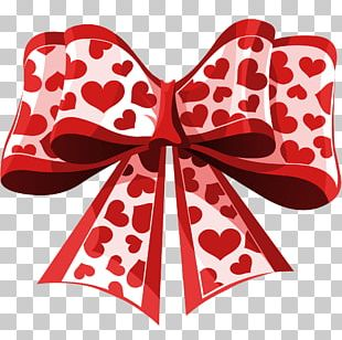 Heart Ribbon Valentine's Day PNG